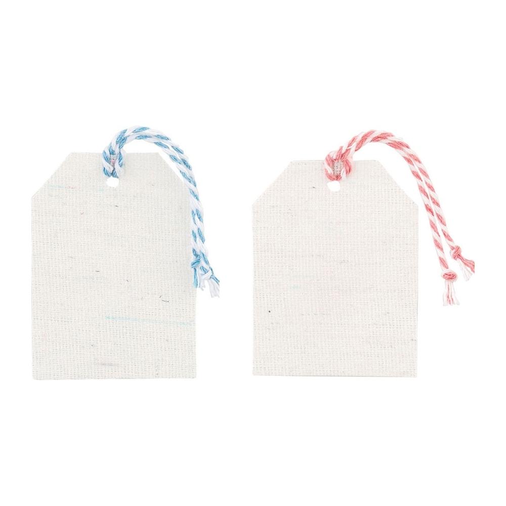 Tag con spago bicolor (10 pezzi)