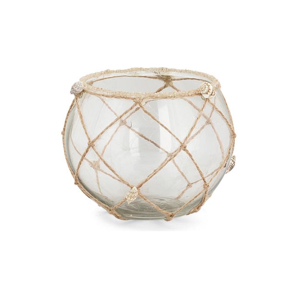 Vaso in vetro con rete
