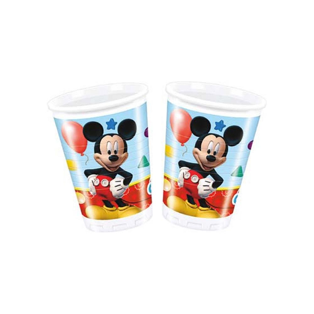 Bicchieri di plastica mickey mouse (8 pezzi)
