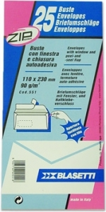 BUSTE STRIP DA 90GR CON FINESTRA (25 PEZZI)