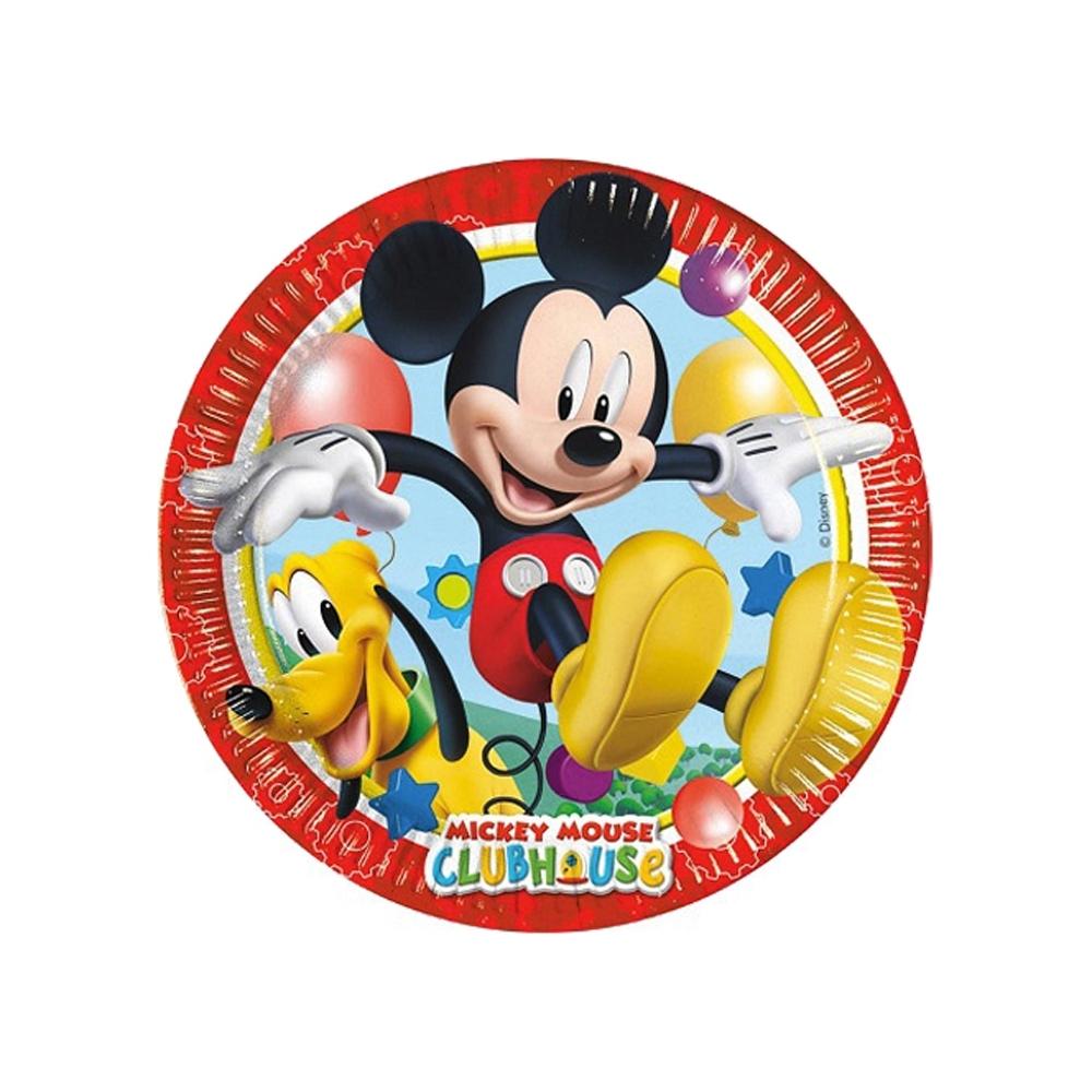 Piatti di carta mickey mouse (8 pezzi)