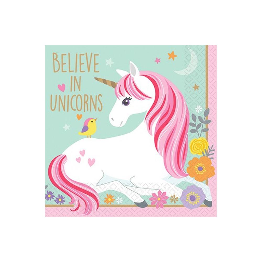 Tovaglioli unicorno (16 pezzi)