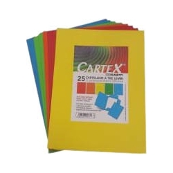 CARTELLINA TRE LEMBI CARTEX (25 PEZZI)