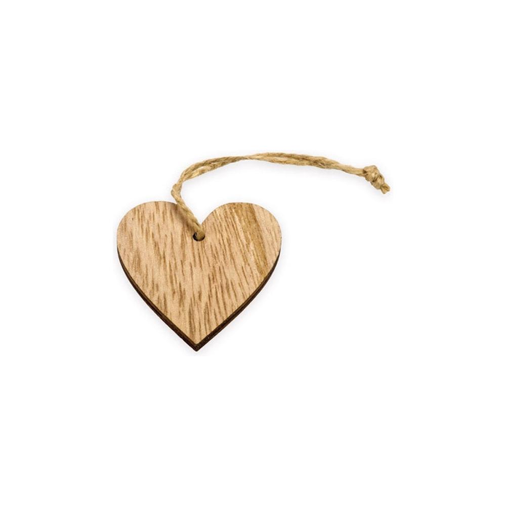 Applicazione cuore in legno (12 pezzi)