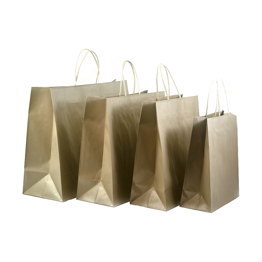 Sacchetti in carta platino con manico in cotone