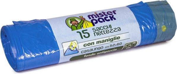 SACCHI NETTEZZA CON MANIGLIE (15 PEZZI)