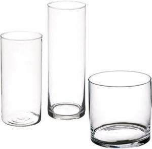 Vso cilindrico in vetro