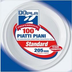 PIATTI IN PLASTICA PIANI (100 PEZZI)