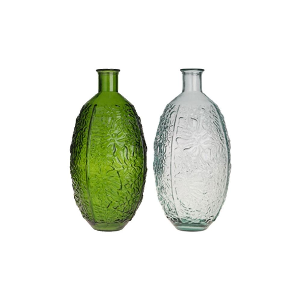 Vaso in vetro reclicato botanic