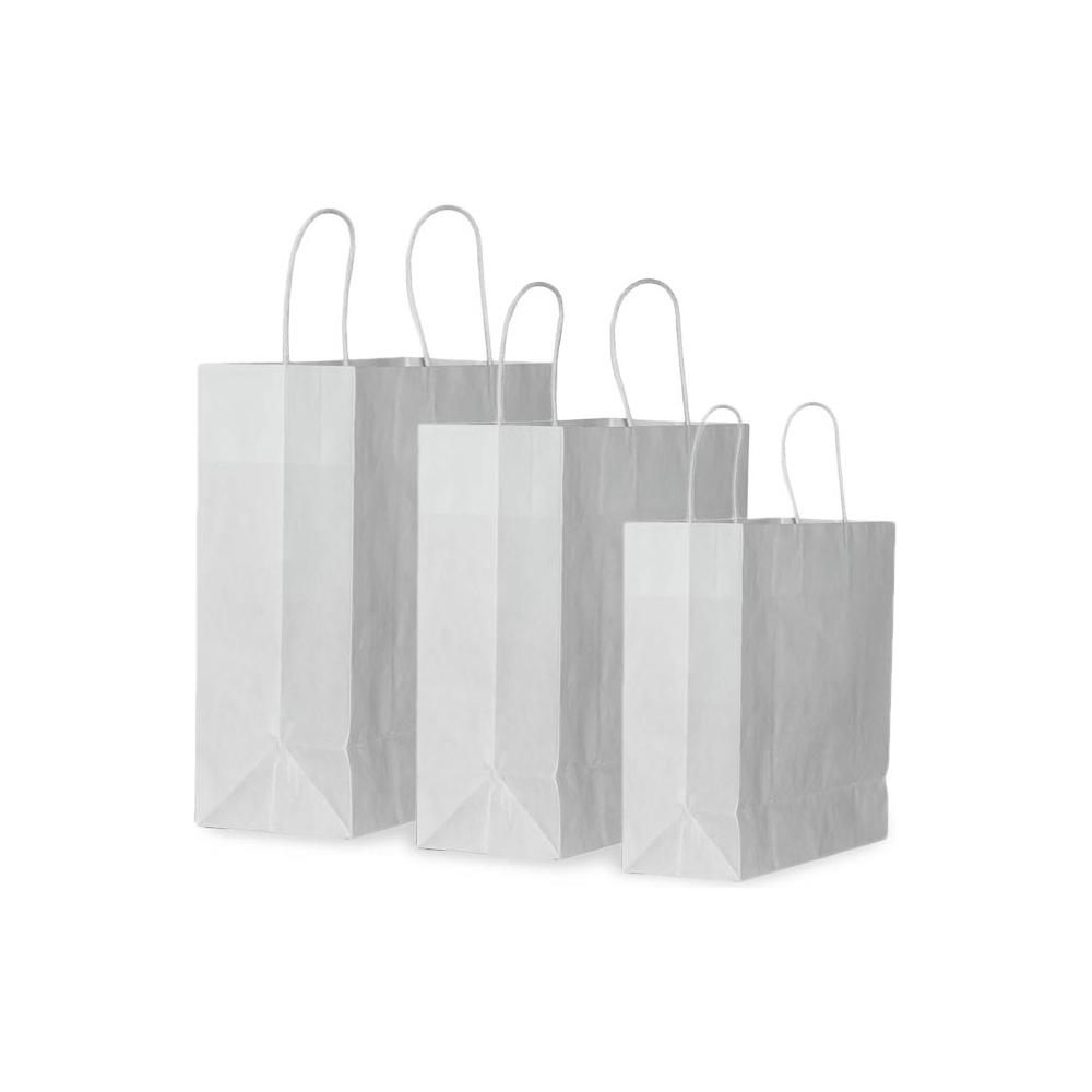 Sacchetti in carta con manico in cotone