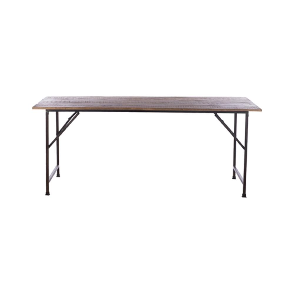 Tavolo con base in legno