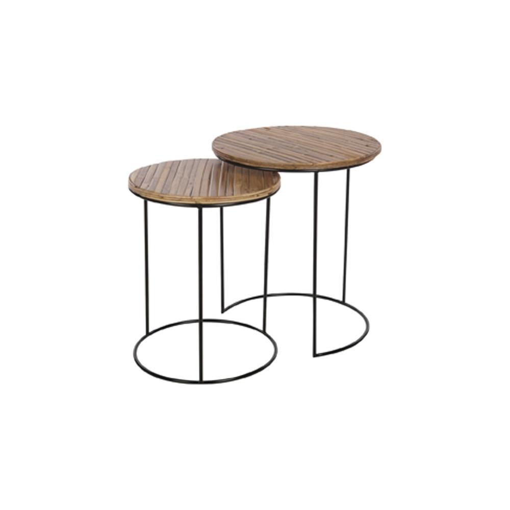 Tavolino con superficie in bambu'
