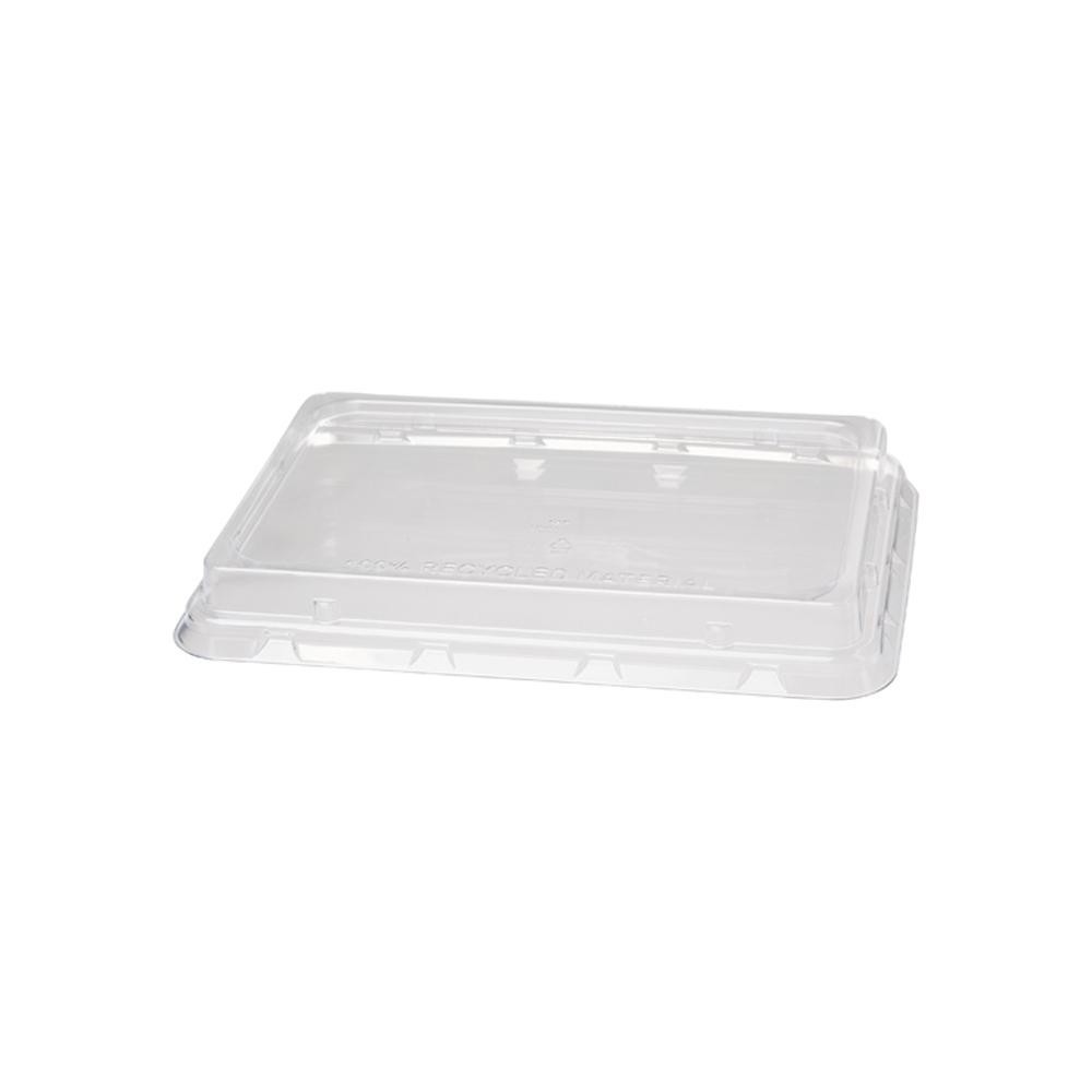 COPERCHI rettangolari IN materiale plastico RPET  per ciotole e vaschette delivery e take away