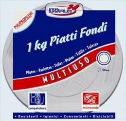 PIATTI IN PLASTICA FONDI (1KG)