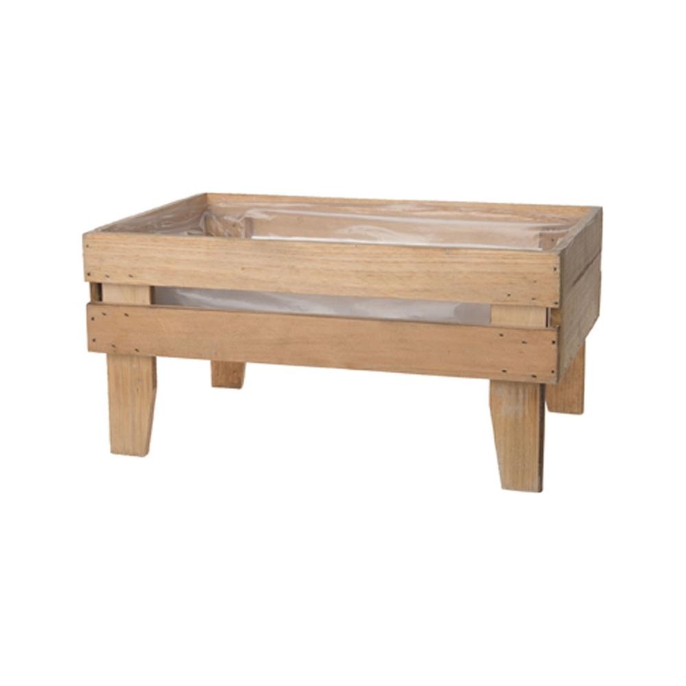 Cassetta in legno con piedini