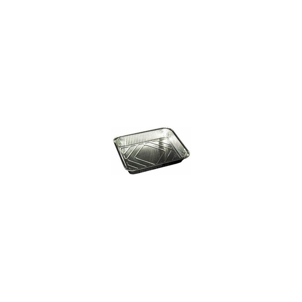 Vaschette in alluminio con coperchio (2 pezzi)
