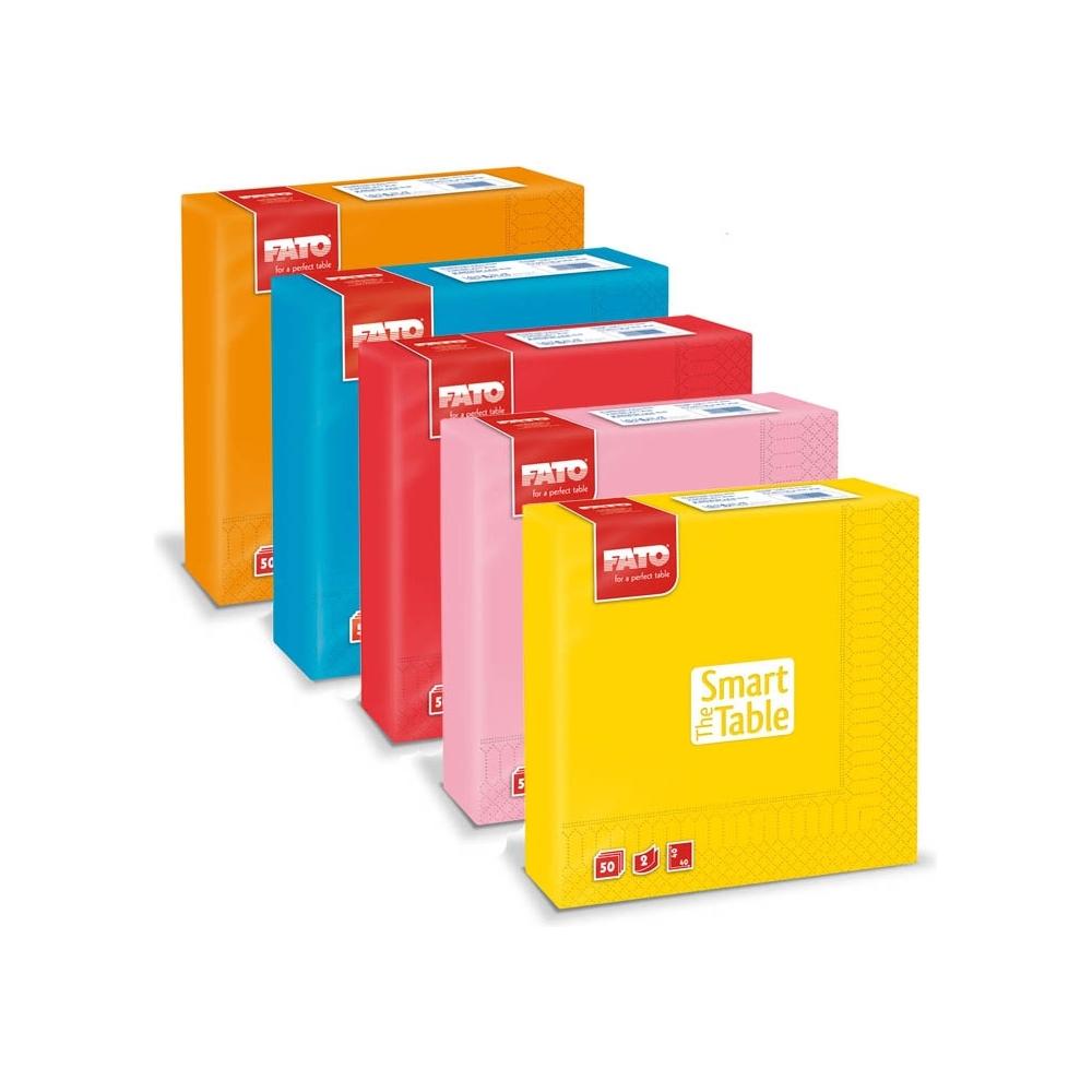 Tovaglioli in carta colorati (50 pezzi)