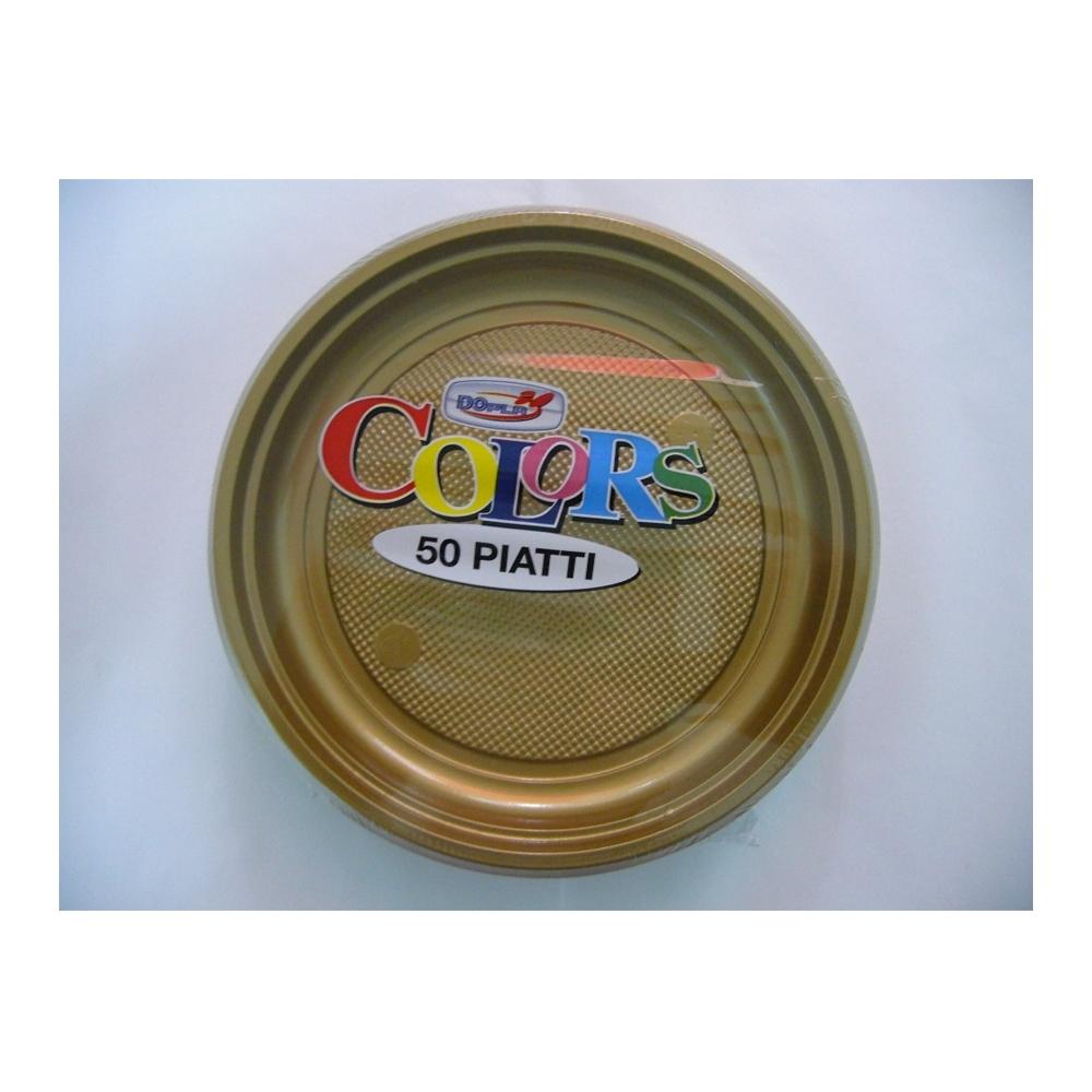 PIATTI PLASTICA DESSERT (50 PEZZI)