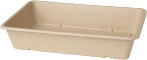 SCATOLE rettangolari IN BAGASSA compostabile e microondabile (40 PEZZI) ingrosso online b2b