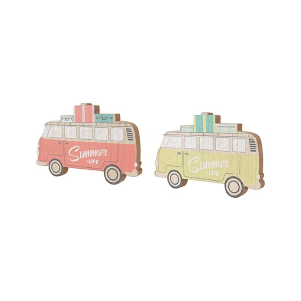 Minivan in legno (12 pezzi)