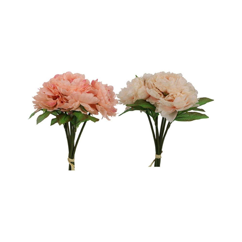 Bouquet di peonia artificiale