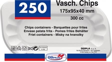 CONTENITORI PER CHIPS (250 PEZZI)