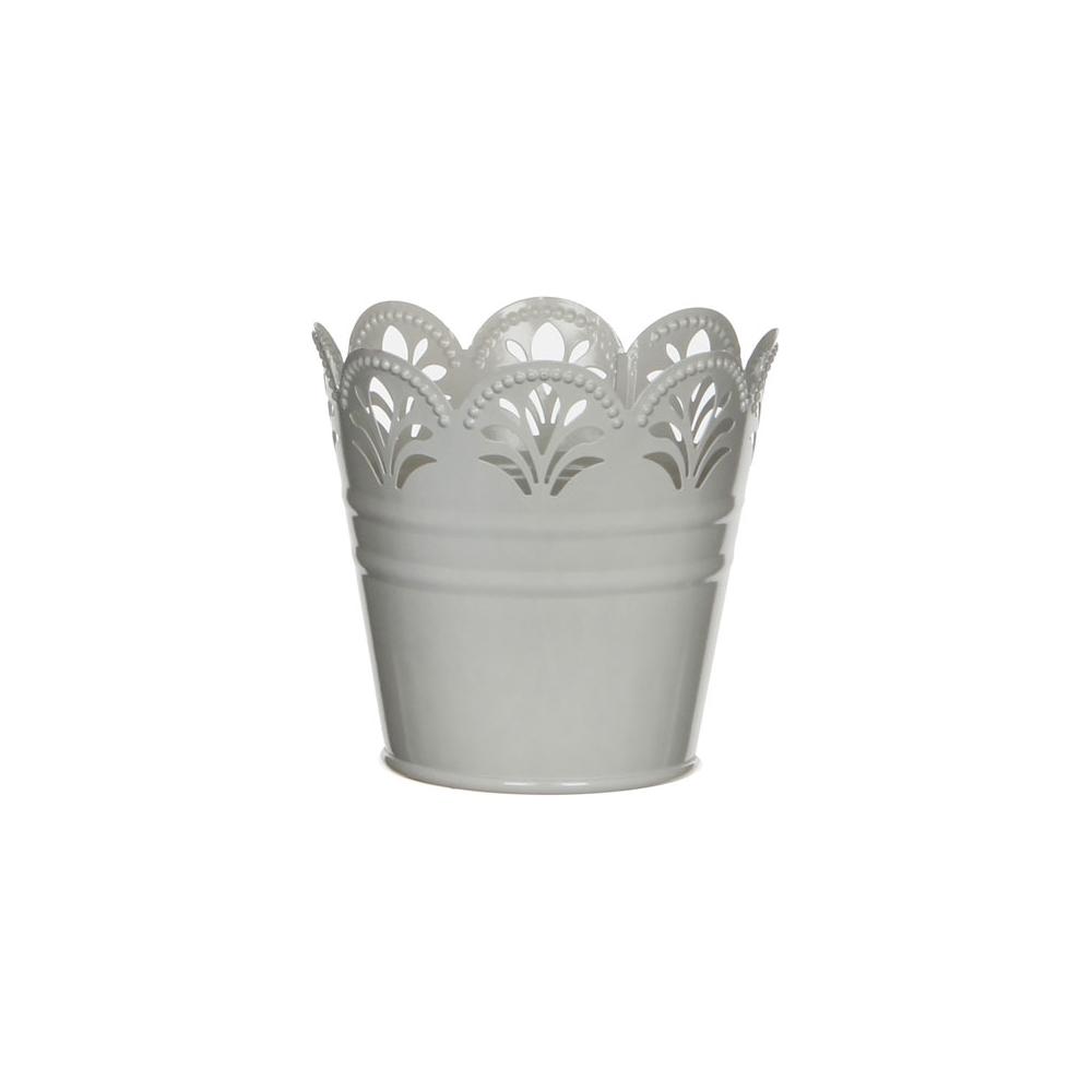 Vasetto in metallo smerlato