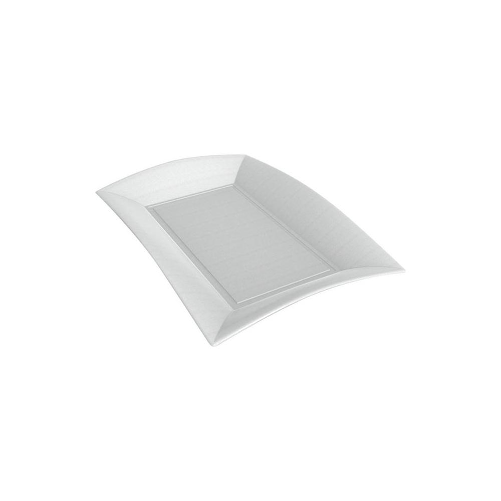 Piatti rettangolari in polpa di cellulosa (50 pezzi)