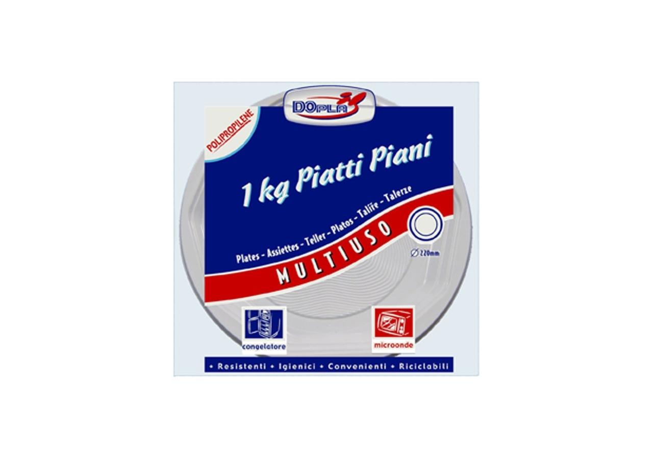 PIATTI IN PLASTICA PIANI (1KG)