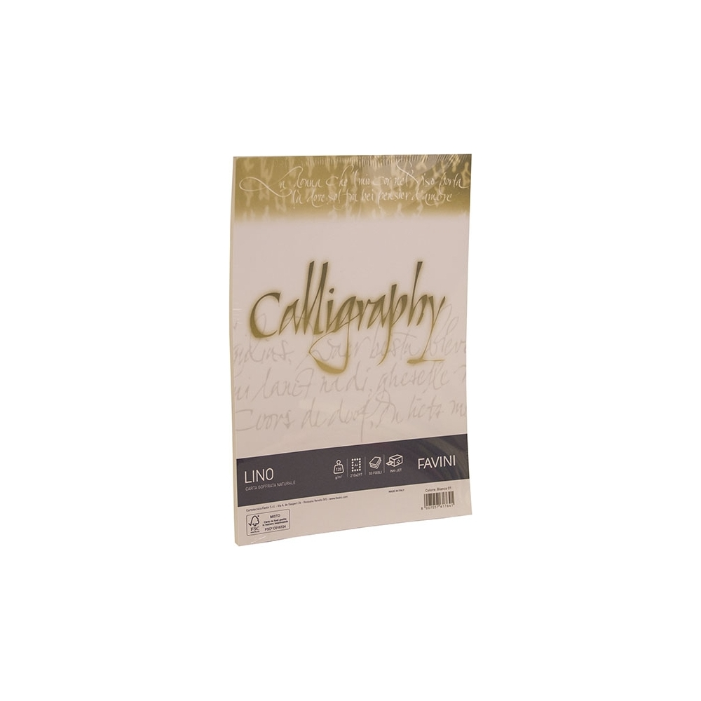 RISMA CALLIGRAPHY LINO - 200GR (50 FOGLI)