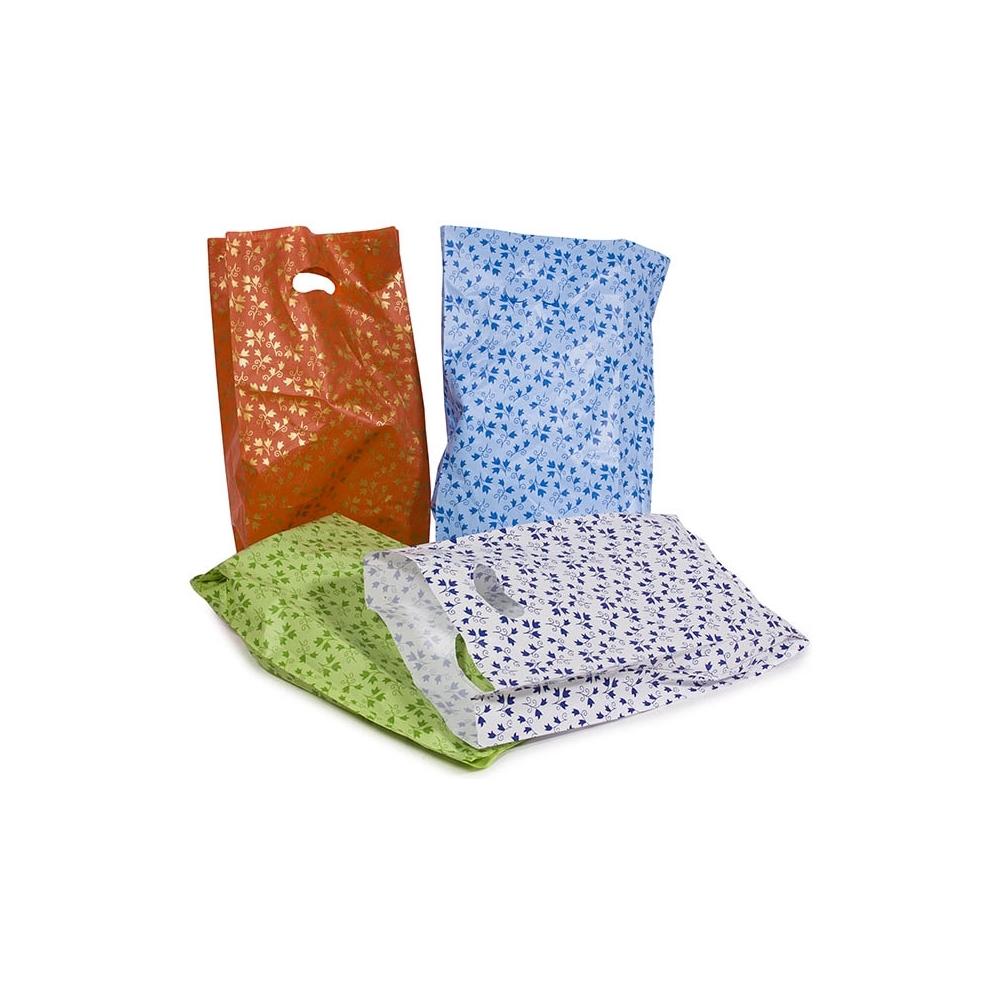 Sacchetti in plastica con manico a fagiolo