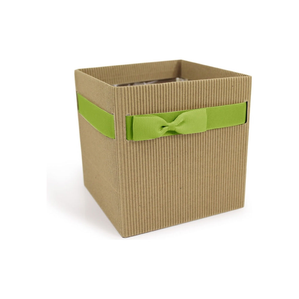 BOX IN CARTONCINO CON NASTRO VERDE (10 PEZZI)