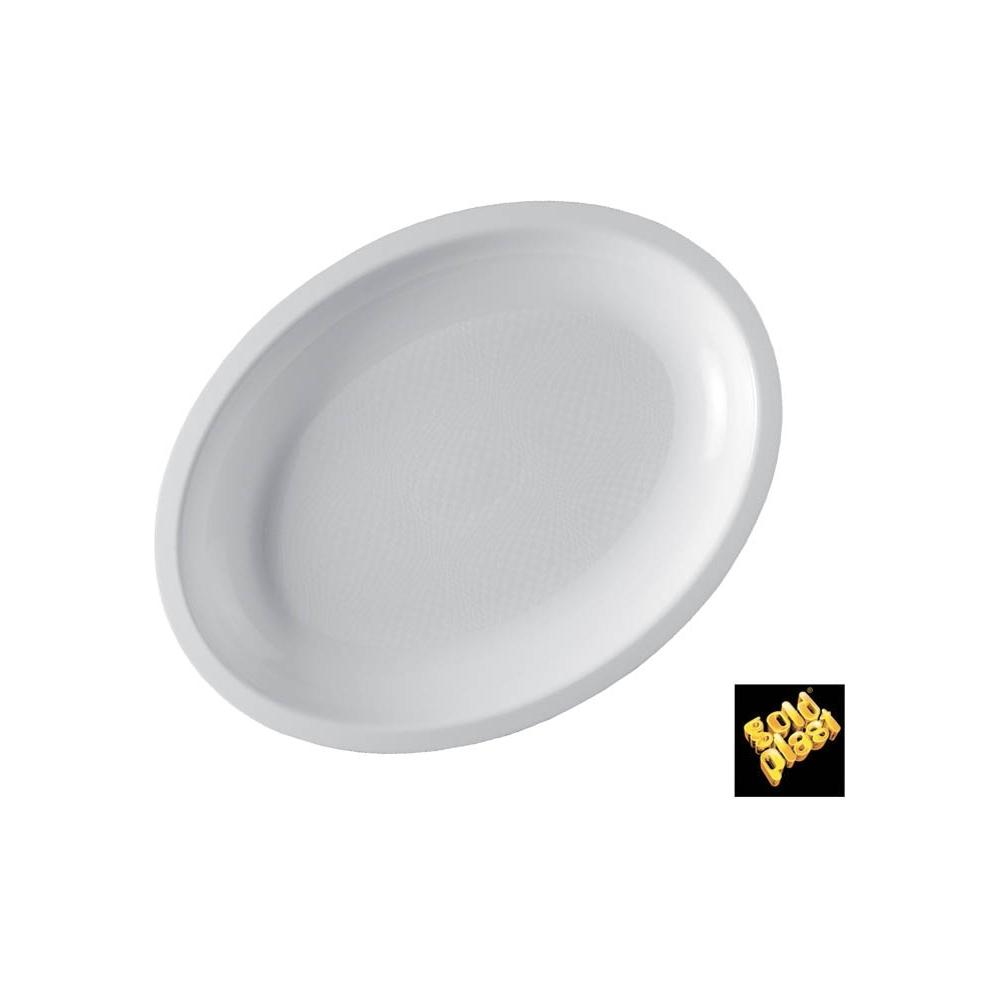 Piatti in plastica ovali (25 pezzi)