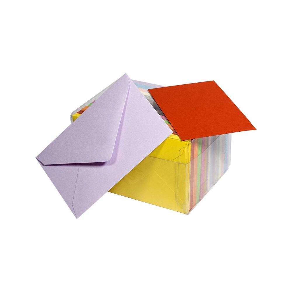 Cartoncini colorati con buste (100 pezzi)
