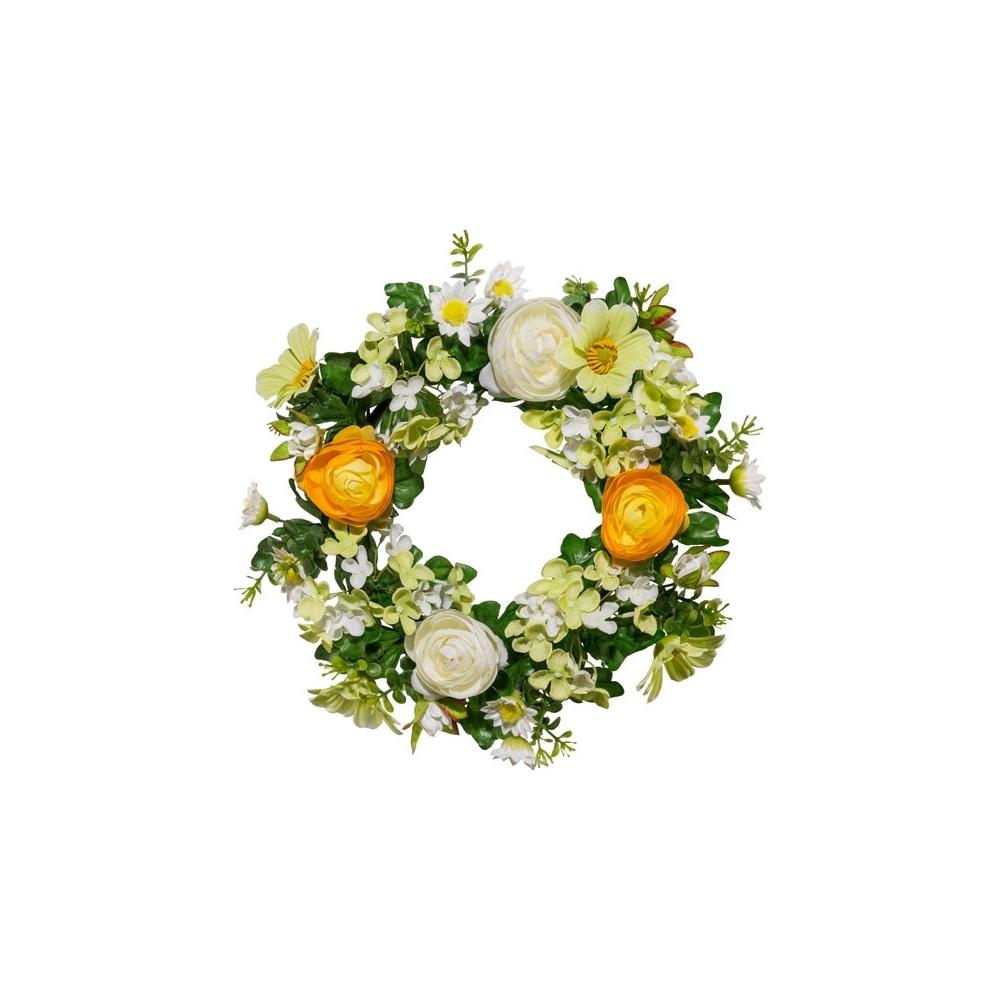 Corona ranuncoli e fiori