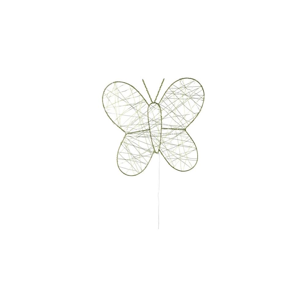 Farfalla in metallo con 30 led