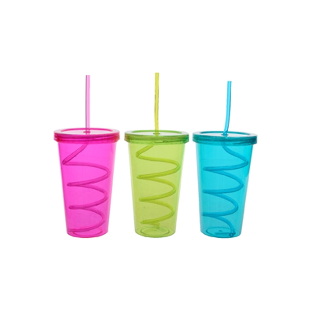 Bicchiere con cannuccia