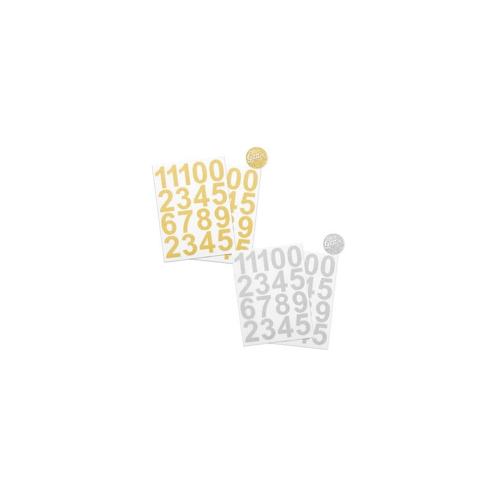 Numeri adesivi glitterati (34 pezzi)