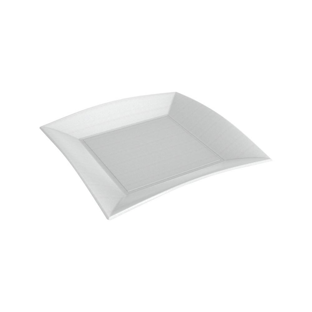Piatti piani in polpa di cellulosa (50 pezzi)