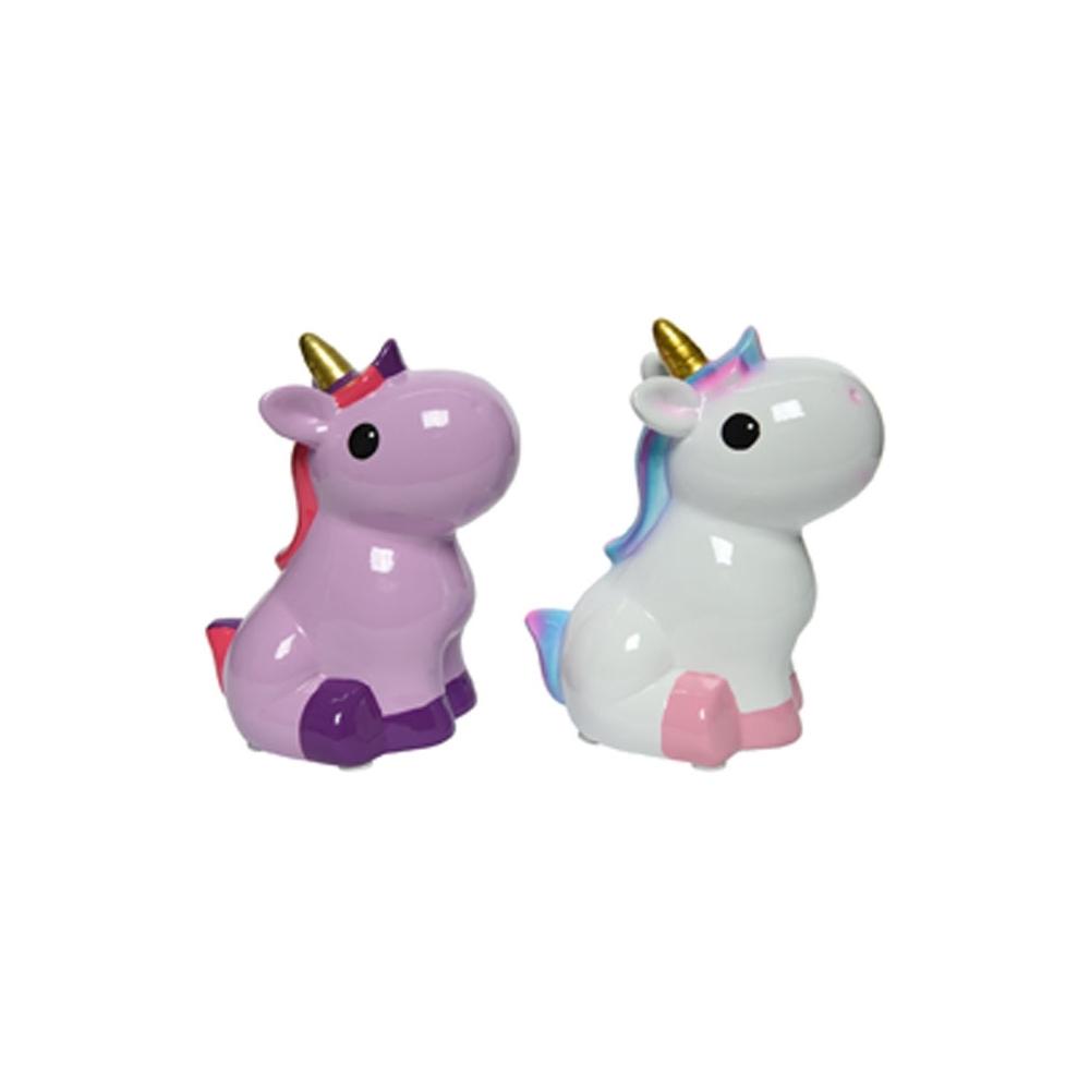 Unicorno di ceramica
