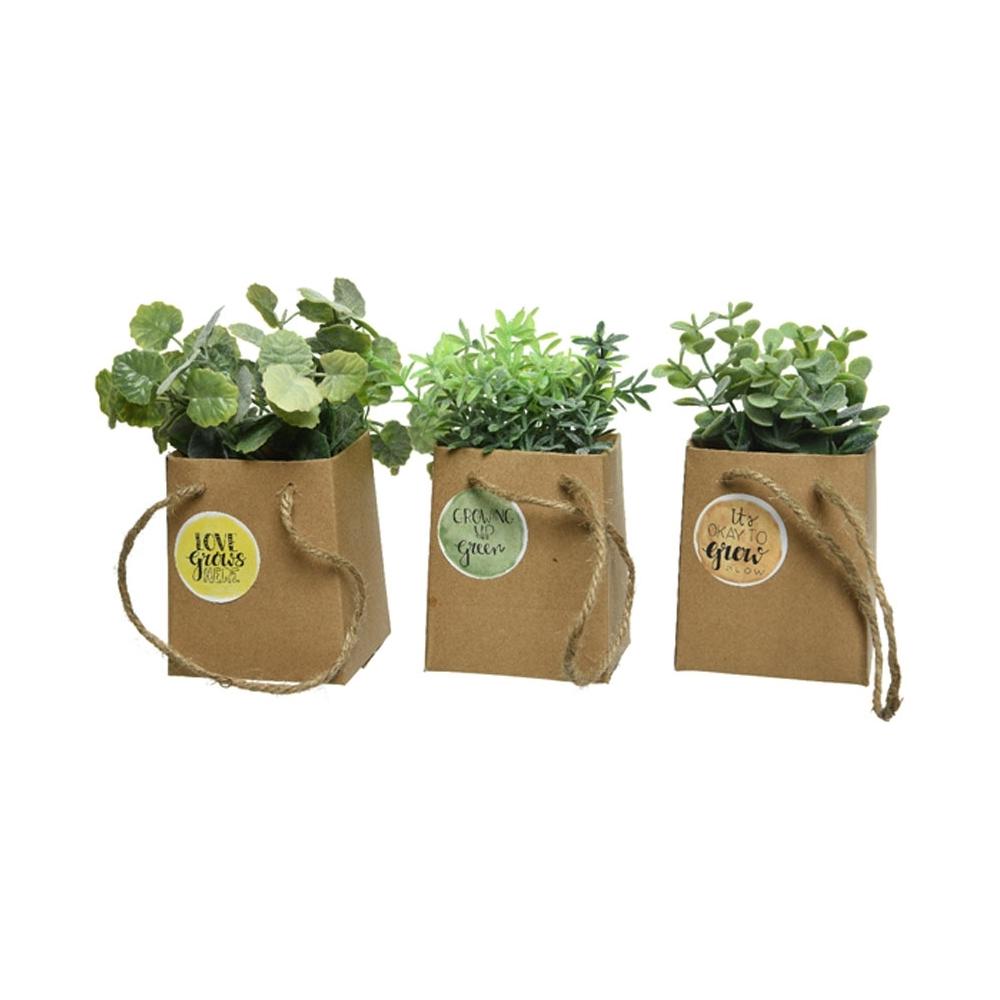 Sacchettino in carta con erba