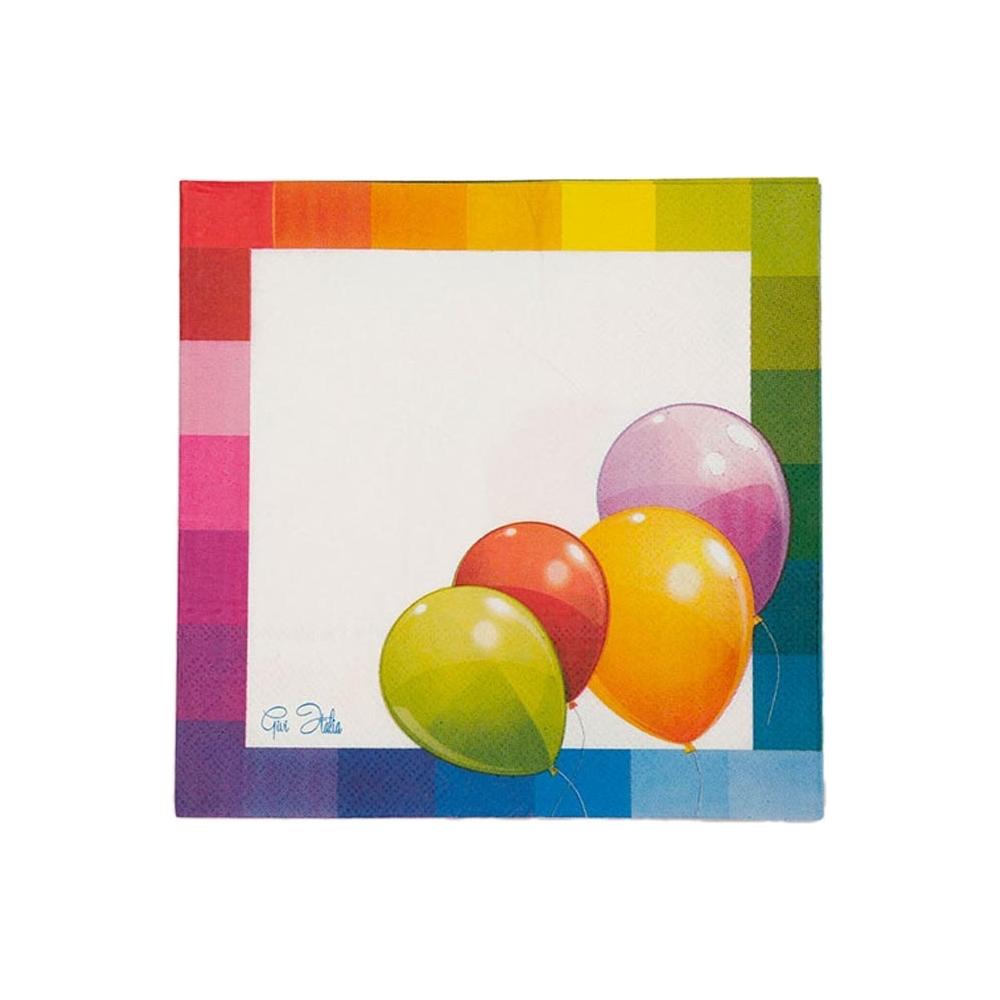 Tovaglioli palloncini (16 pezzi)