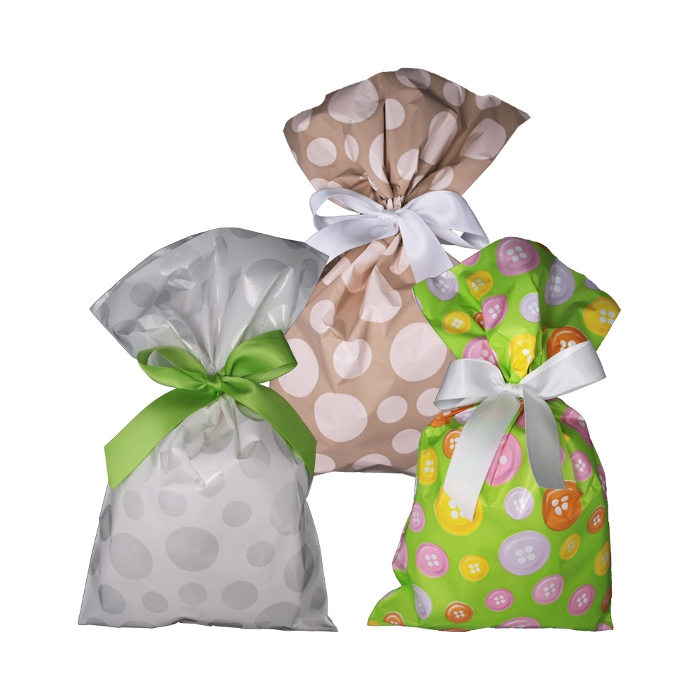 Buste da regalo polipropilene assortite (100 pezzi)