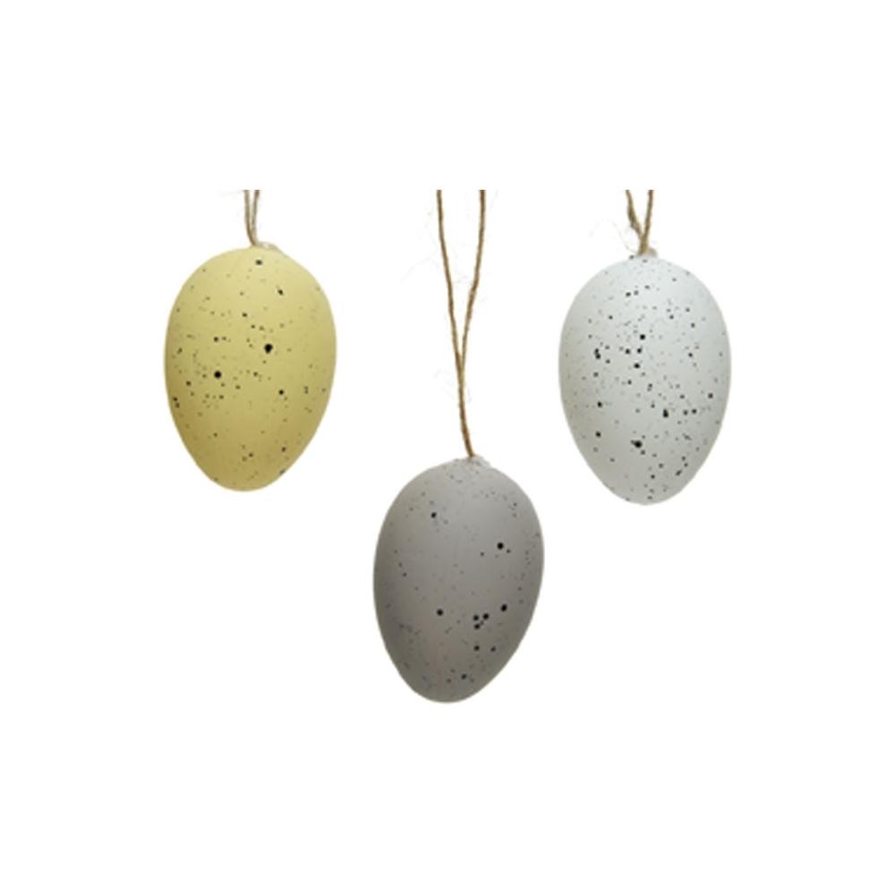 Uova con cordino juta (6 pezzi)