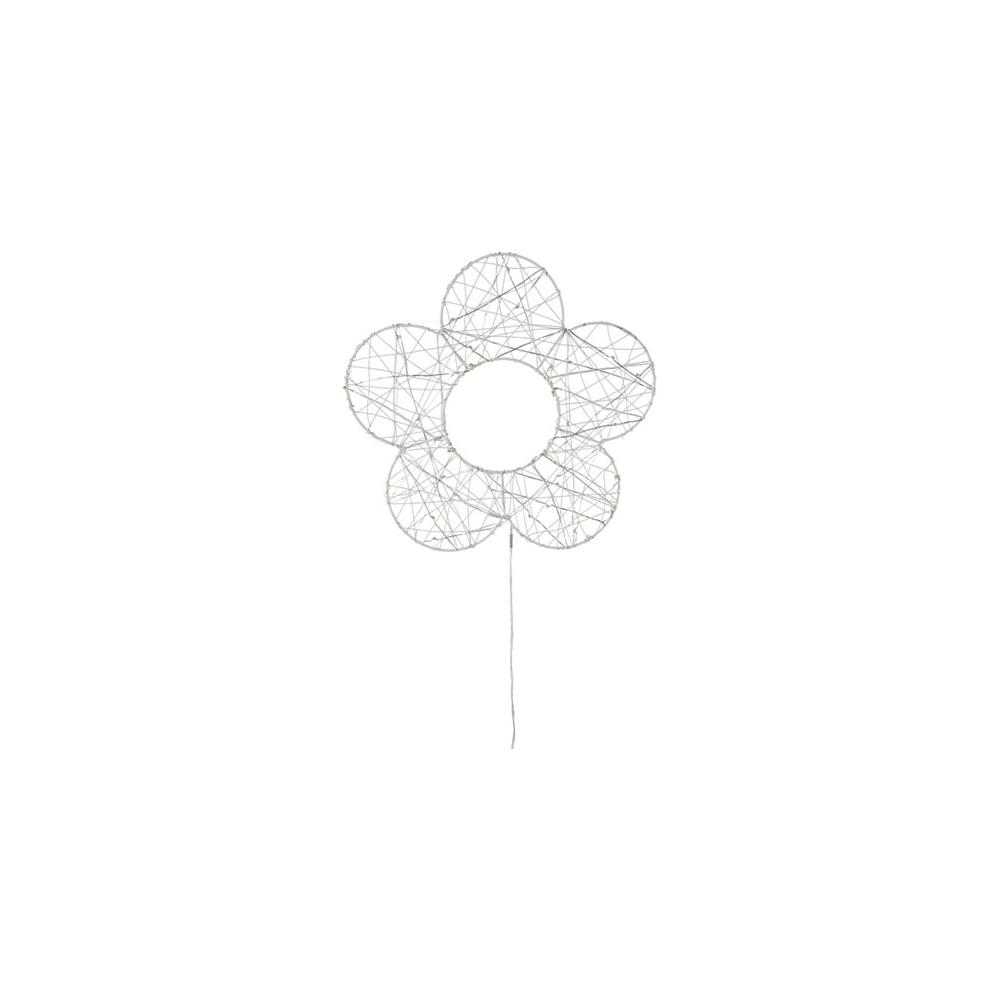 Fiore in metallo con 30 led