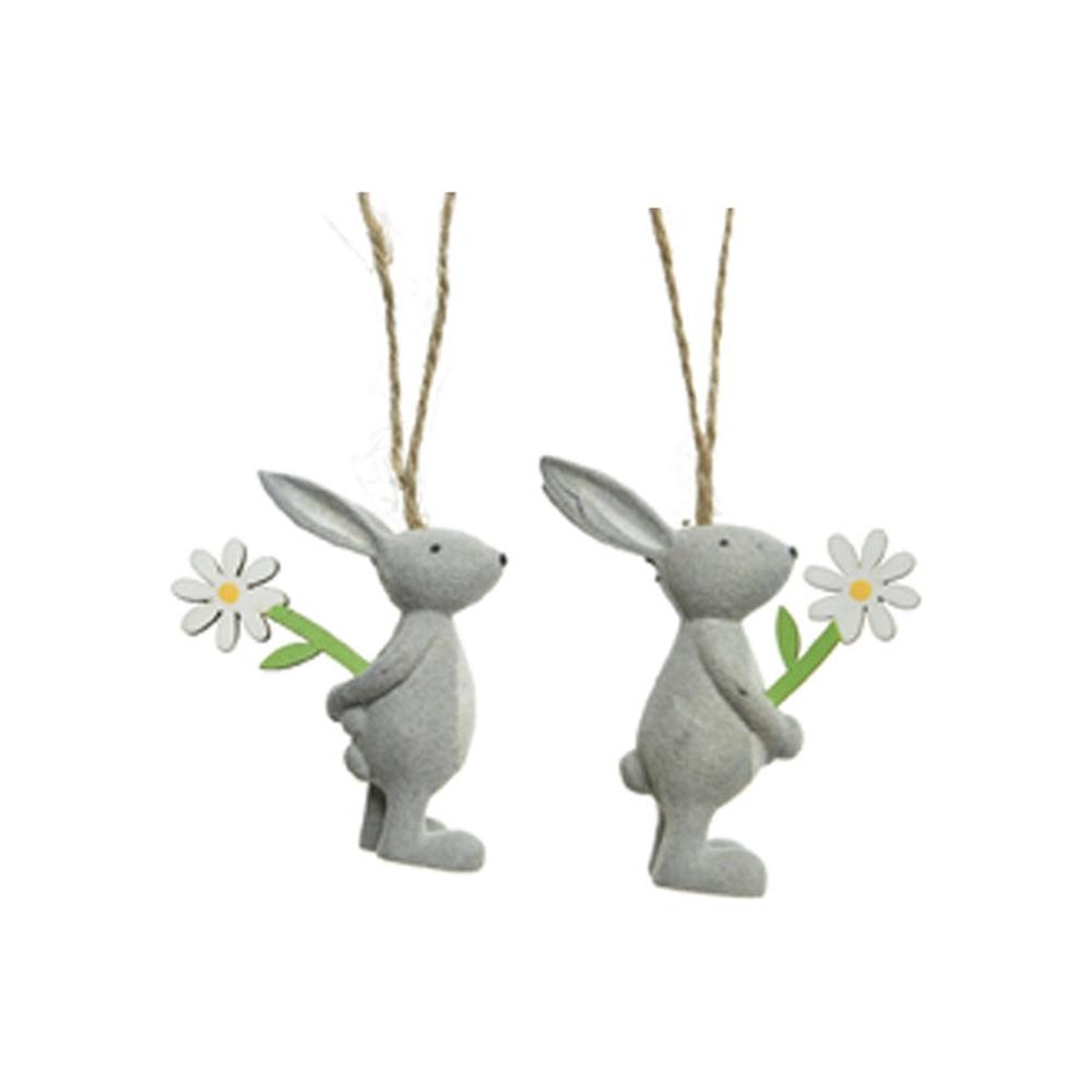 Coniglietti di legno da appendere