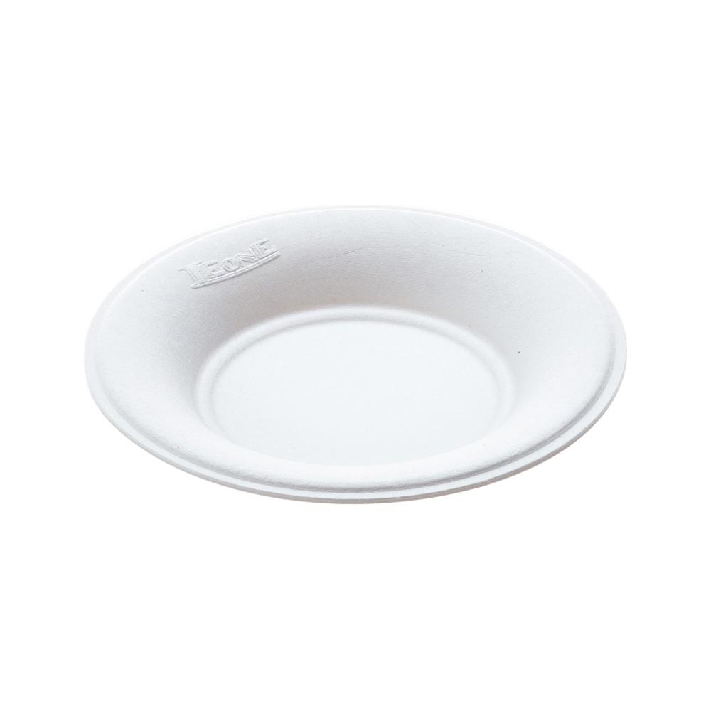 Piattini tondi in polpa di cellulosa (50 pezzi)