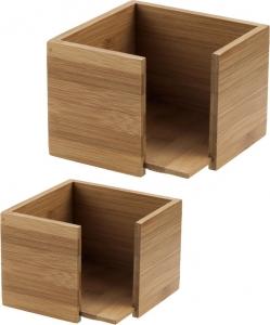 Porta Tovaglioli Quadrato in Bambù Vendita online all'ingrosso b2b