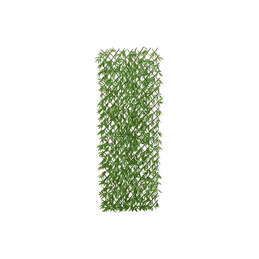 Pannello con foglie di bambu artificiali