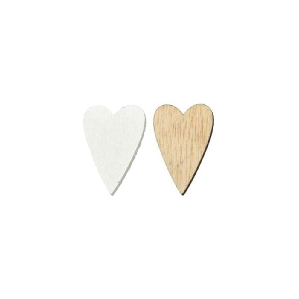 Cuori in legno (24 pezzi)